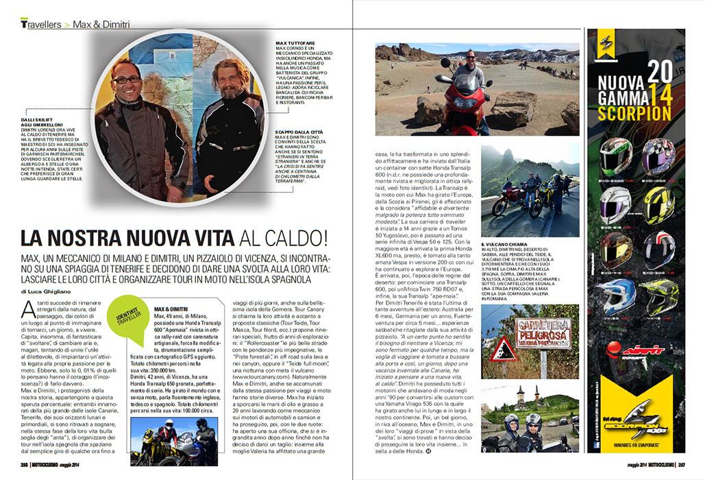MOTOCICLISMO 05.2014 - AllTravellers: Max&Dimitri