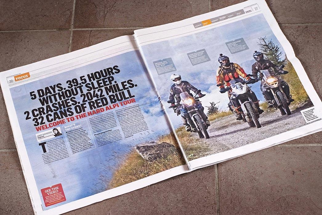 MOTORCYCLE NEWS - Articolo HardAlpiTour - Settembre 2013